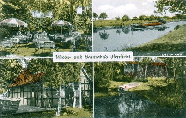 Postkarte vom ehemaligen Moor- und Saunabad Isenstedt an der Moorbadstraße (bis 1972)