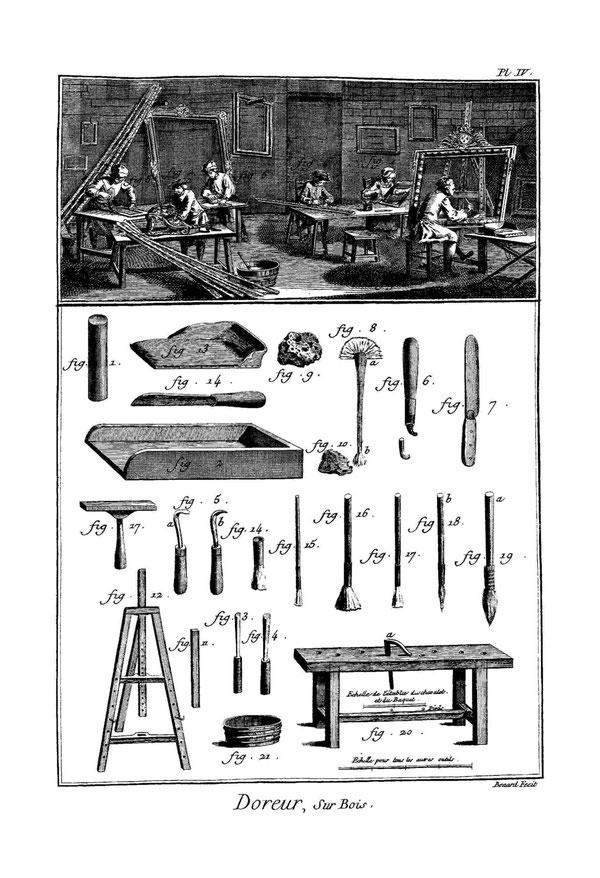outils du doreur
