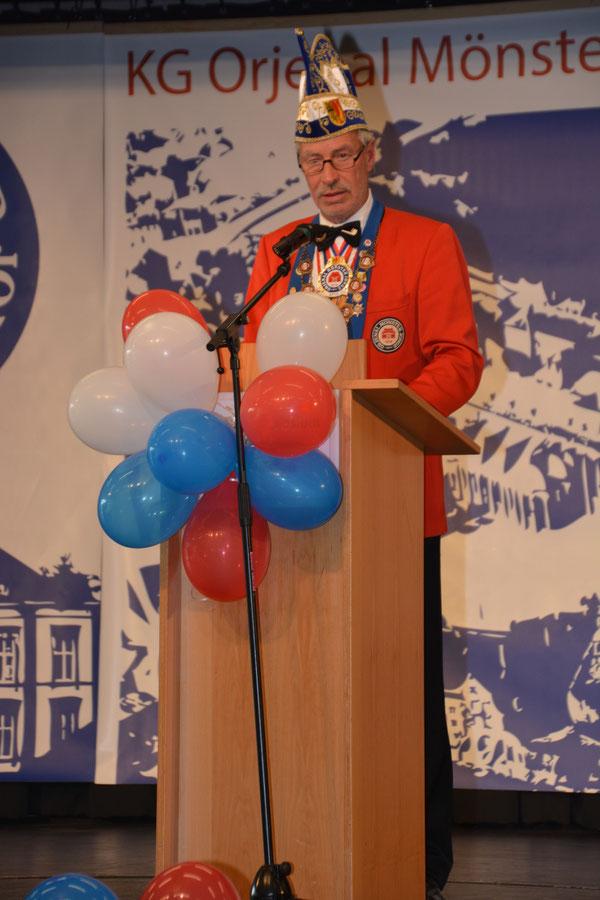 Unser Präsident und erster Vorsitzende Manfred Arnold