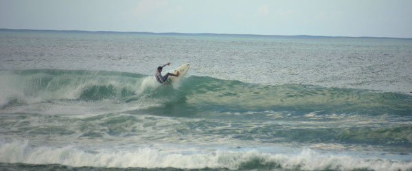 maria's beach, surfing
