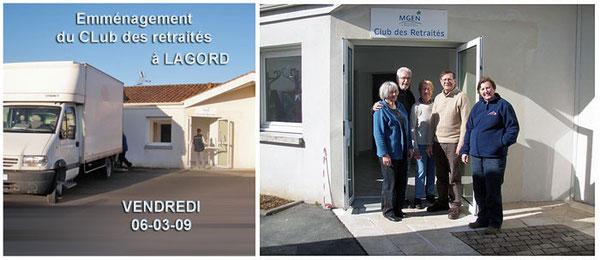 Emménagement Club MGEN 17 dans les nouveaux locaux de Lagord (17140)