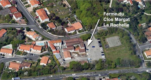 Clos Margat La Rochelle par satellite