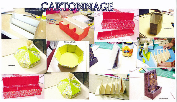 Cartonnage : exemples de production
