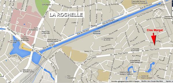 Clos margat position sur plan La Rochelle