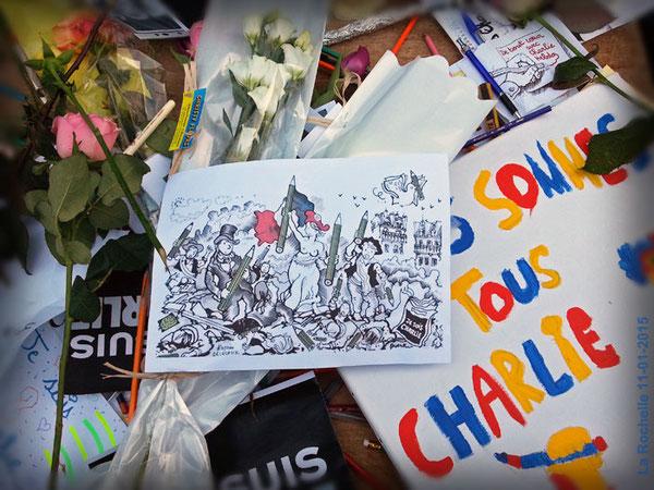 Attentat contre Charlie Hebdo mercredi 07 janvier 2015 à Paris.
