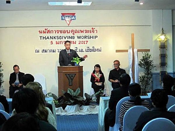 Ein Gottesdienst beim YMCA Chiang Mai/Nordthailand