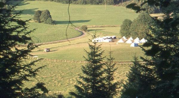Der Zeltplatz des CVJM Wolfsburg in Glere/Frankreich