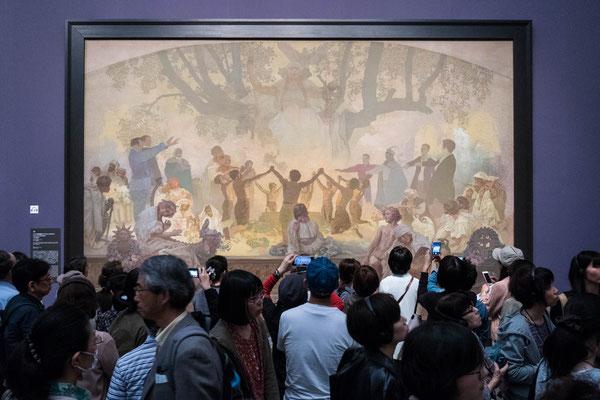 東京国立新博物館「ミュシャ展」スラブ叙事詩 写真
