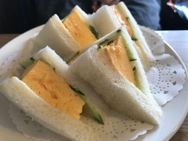 京都 喫茶チロルの卵サンド