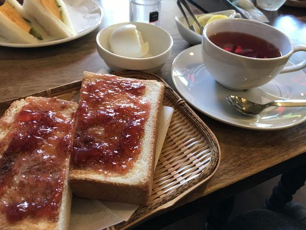 京都 喫茶チロルのジャムトースト