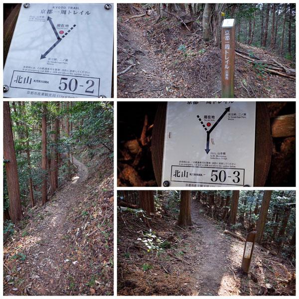 【京都トレイル北山西部コース】「北山50-2」「北山50-3」