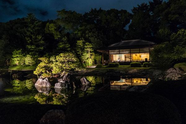 京都ライトアップイベント「京の七夕」二条城会場「清流園」「香雲亭」