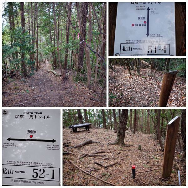【京都トレイル北山西部コース】「北山51-4」「北山52-1」