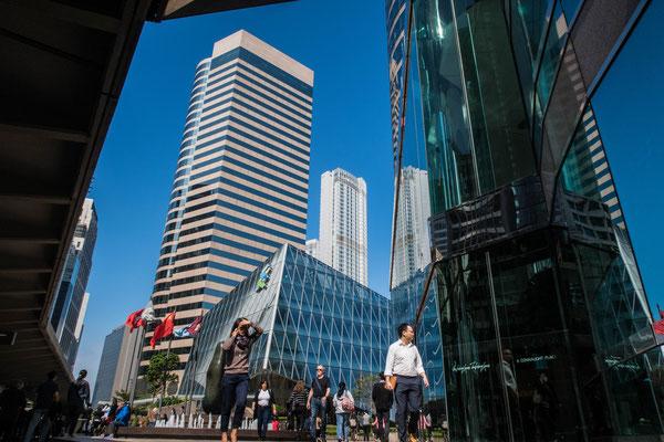 香港 中環駅付近のビル群
