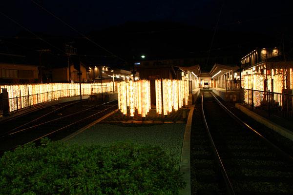 嵐電嵐山駅 キモノフォレスト