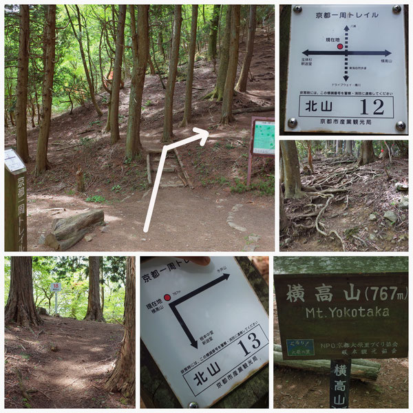 京都一周トレイル 北山東部コース 「北山13」(横高山)