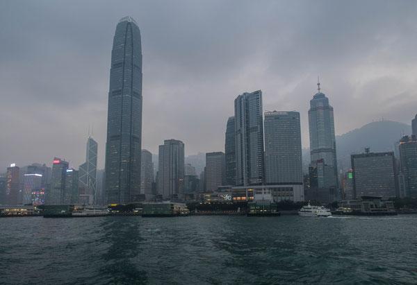香港 フェリーからの眺め
