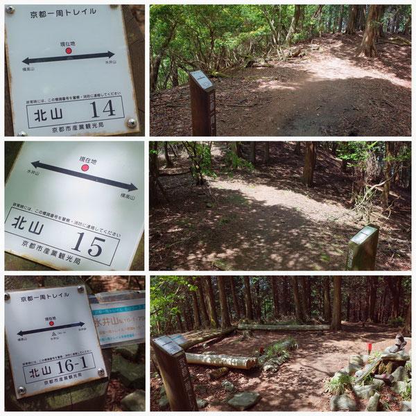 京都一周トレイル 北山東部コース 「北山16-1」(水井山)