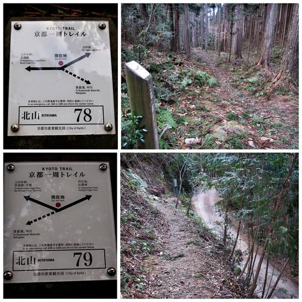 【京都トレイル北山西部コース】「北山78」「北山79」