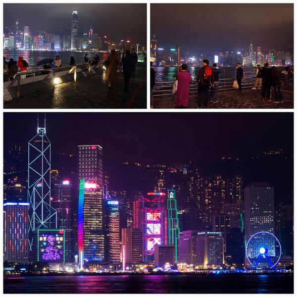 香港ビクトリアハーバー夜景