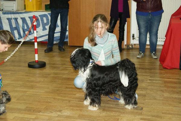 """Im Ring """"Kind mit Hund"""", Platz 1 :-)"""