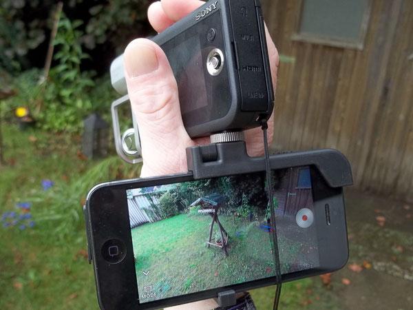 Sony HDR-MV1 iPhone 5 WLAN
