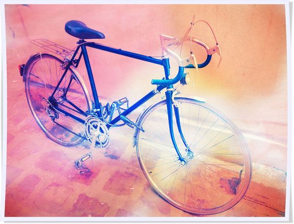 vélo de course raleigh bleu