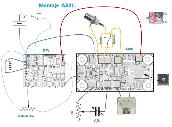Montaje analizador Antenas AA01