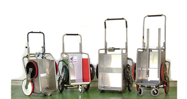 TCS/Elviotrolley carrelli saliscala elettrici presenta i suoi prodotti per la casa , 4 versioni che formano una famiglia affiatata .