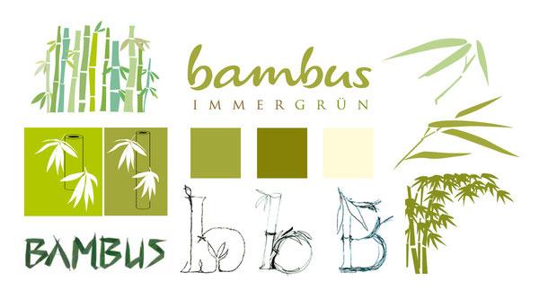 BAMBUS - Immergrün - Corporate Design - neues harmonisches Erscehinungsbild - Scribbles - Logoentwicklung -  DesignKis - 2009