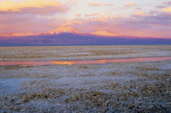 Sonnenuntergang in der Salar de Atacama
