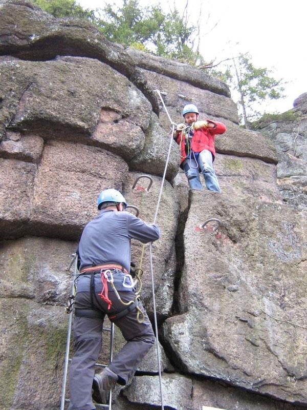 Walter Keiderling Klettersteig Erlabrunn