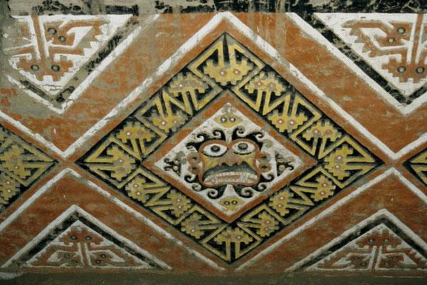 Abbildung aus den Inneren der Huaca del Sol (Sonnenpyramide)