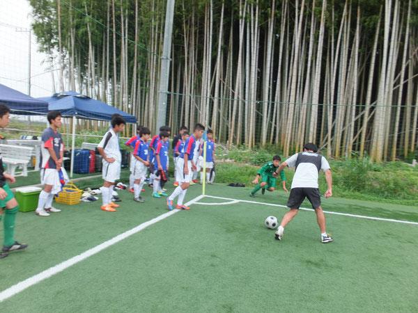 山田コーチによるシュート講座(GKと1対1)