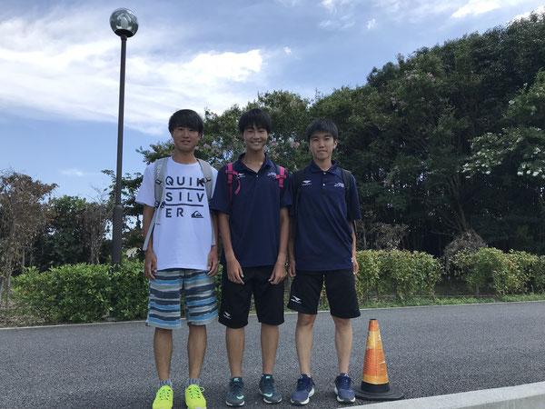 卒業生も応援に駆けつけてくれました!  賢伸(10期生,藤沢清流)、拓真・將仁(10期生,座間) 応援ありがとう!