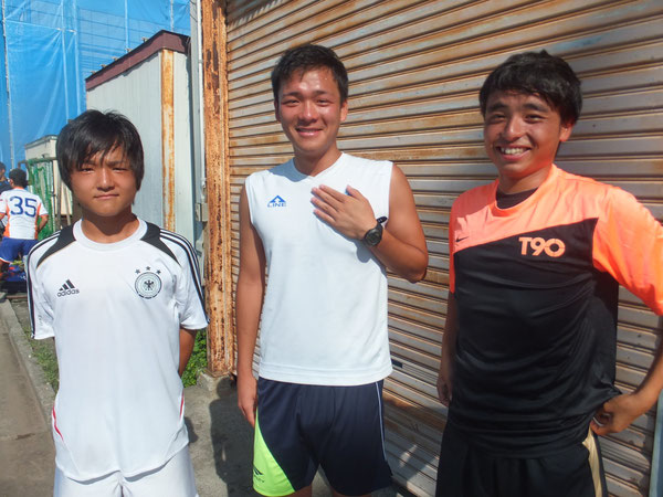 5期生の拓人、広大、悦寛 選手権頑張れ!