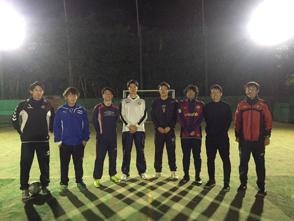 初代と5代目 初代はみんな社会人になりました。広大(5代目)は湘南フットサルクラブで活躍中!