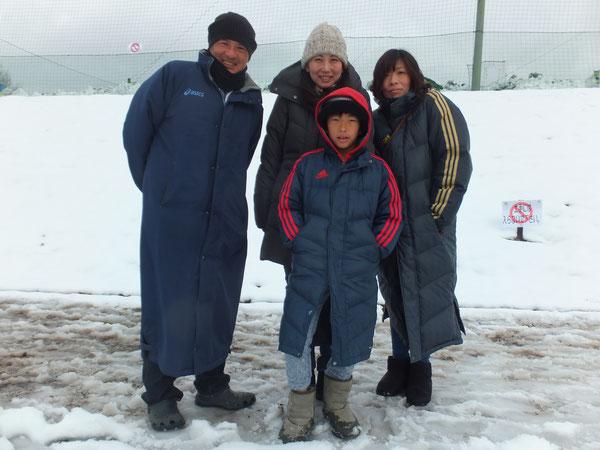 今日のリーヴレサポーターさん 雪の中、応援ありがとうございました!