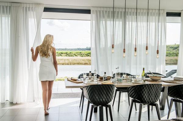 Te huur luxe vakantiehuizen met sauna, een echte Wellnessvakantie voor 6 of 8 personen in Zeeland