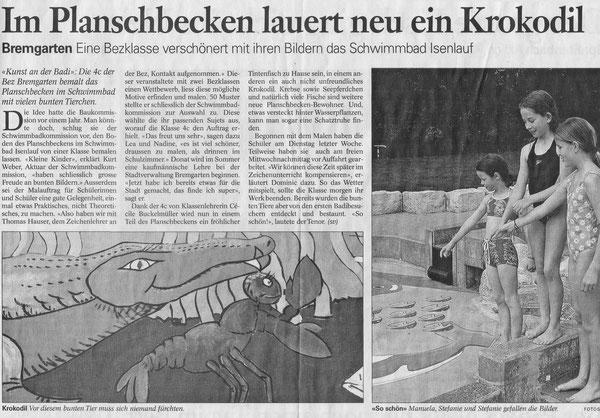 AARGAUER ZEITUNG, 13. Mai 2002 (S. Vanek)