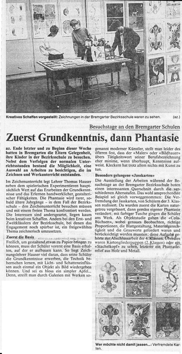 1. Ausstellung, November 1984