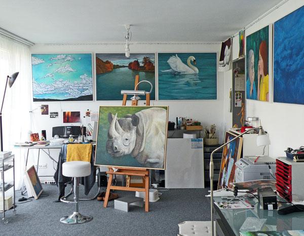 Atelier im Juli 2011
