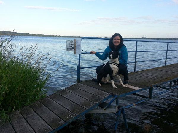 Urlaub am Wittensee war toll. Ich durfte oft baden ;-)