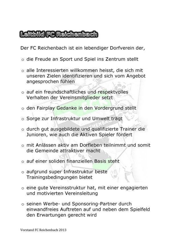 Leitbild FC Reichenbach