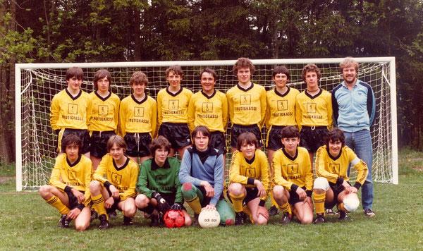 Junioren B 1981/82 im neuen Dress