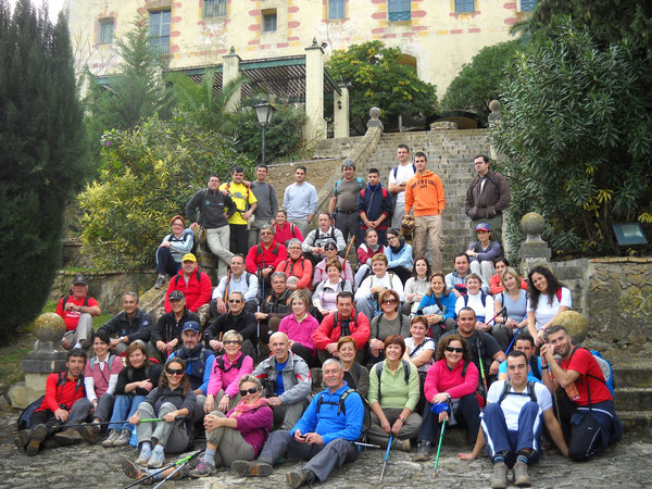 Grupo de Senderistas de la 4ª Etapa de la Ruta dels Monestirs 2010-2011