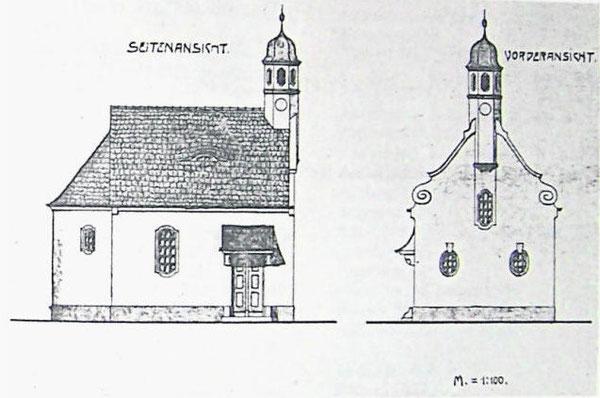 Die Kapellengeschichte in Pfrentsch begann mit dem Entwurf von Architekt Heinrich Hauberrisser, der viele Kirchen in der Region plante. Repro: fjo