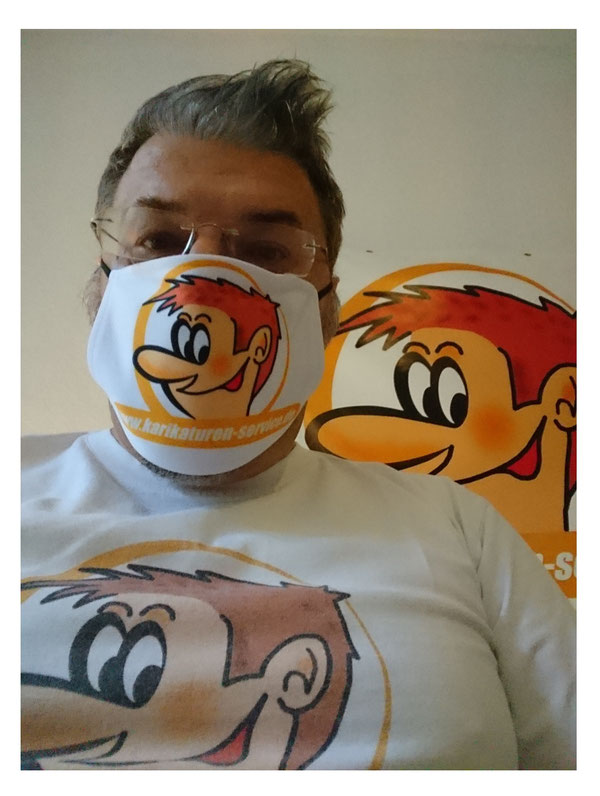 Nasen- und Mundschutz, Maske, T-Shirt, Plane mit Ihrem Logo