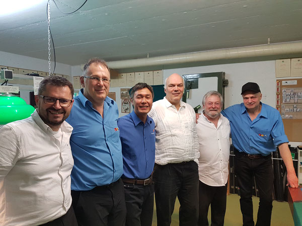 vlnr: Jean-Yves, Andreas, Seong-Woo, Felix, Jean-Claude, Attila