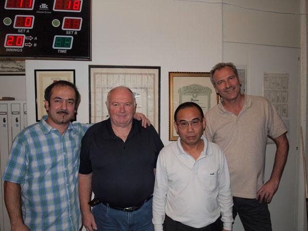 Die Top 4 des 2. Züri Opens: Alpay Untürk (1.), André Chétard (3.), Ma Duy (2.) und Marco Fenaroli (4.)